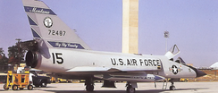 Convair F-106A-90-CO Delta Dart 57-2487. Retired to AMARC on 4 May 1987. Converted to QF-106 target drone (AD188). Shot down with AIM-7M 1 March 1992