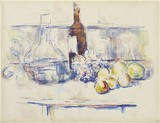 Still Life with Carafe, Bottle, and Fruit, 1906, Henry and Rose Pearlman Collection on long-term loan to the Princeton University Art Museum