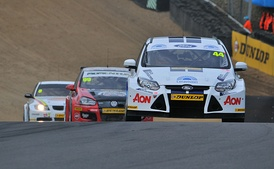 Touring Cars at a BTCC during race at Brands Hatch, April 2011
