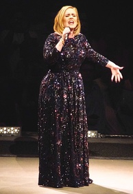 Adele singing in St. Paul during her first North American tour in five years in July 2016. Ten million people tried to buy tickets for the North American leg of Adele's world tour. Only 750,000 tickets were available[128]
