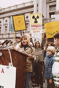 Anti-nuclear protest at Harrisburg in 1979, following the Three Mile Island accident