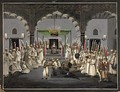 An Imam reads verses from the Quran after Isha' (night prayers) in the Mughal Empire.