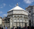 The octagonal Baptistry of Saint John, Florence, completed in 1128