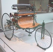 Replica of the Benz Patent Motorwagen built in 1885
