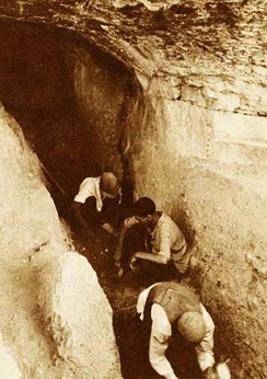 Archaeological excavations in late 1940s in the Bisitun cave, where the first Neanderthal remain of Iran was discovered by Carleton S. Coon