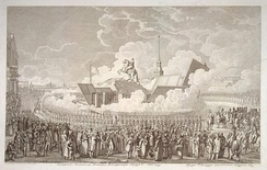 Inauguration of the Monument to Peter the Great. Engraving by A. K. Melnikov of the drawing by A. P. Davydov, 1782
