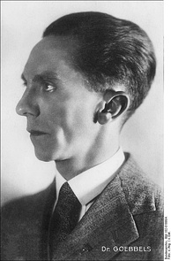 Portrait of Goebbels