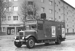 A Siemens truck being used as a Nazi public address vehicle in 1932