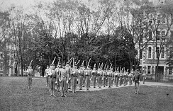 Lt. Herbert C. Squires with the Fordham cadet corps, April 1886