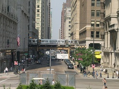 Transportation in downtown Chicago