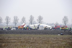 The crash site of Turkish Airlines Flight 1951 on 25 February 2009
