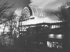 Crystal Palace on fire, 1936