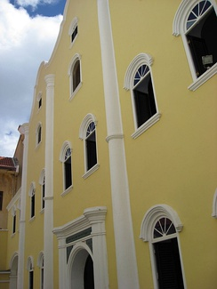 The Mikvé Israel-Emanuel Synagogue in Willemstad is the oldest surviving synagogue in the Western hemisphere.