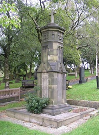Denshaw's war memorial is situated in the village churchyard.