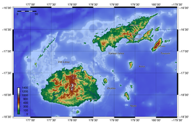 Topography of Fiji