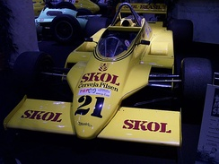 Fittipaldi F8: The car was designed by Harvey Postlethwaite and Adrian Newey.