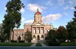 Elkhart County courthouse in Goshen.