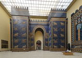 Reconstruction of the Ishtar Gate, in the Pergamon Museum (Berlin, Germany)
