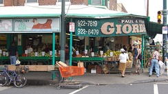 Italian Market, part of South Philadelphia's Italian heritage