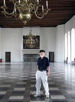 Keith Fowler in the Great Hall of Kronborg Castle, Elsinore, Denmark (2015)