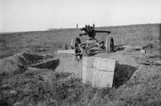 British 3-pounder on an anti-aircraft mount Gallipoli 1915