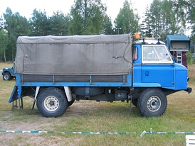Land Rover Series IIB forward control in Evje, Norway on the Norwegian Land Rover Club's 30th anniversary meet in August 2005