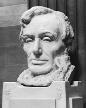 Bust of Lincoln, 1909by Gutzon BorglumUsed as model for engraving of 1959 issue.