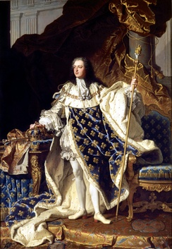 Louis XV by Hyacinthe Rigaud (1730)