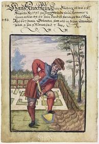 A gardener at work, 1607