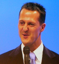 Michael Schumacher (pictured in 2007) clinched pole position and the victory.