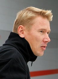 Mika Häkkinen (pictured in 2006) took the 23rd pole position of his career as a result of recording the fastest lap in qualifying.