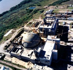 Atucha I Nuclear Power Plant, the first South-American nuclear power plant, in Argentina