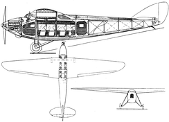 Nieuport-Delage NiD 540 3-view drawing from L'Aérophile October,1928