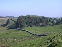 Hadrian's Wall crosses Northumberland National Park in England