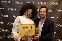 With her award at WOMEX 2017 in Katowice
