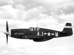 "North American P-51B-1-NA 43-12433 ""Miss Pea Ridge"" AJ-M flown by Capt Mack Tyner in the 356th FS 354th FG 9th AF in 1944 (later transferred to the 362nd FS 357th FG and re-badged as ""G4-L"")."