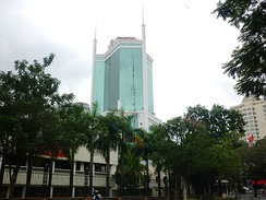 Saigon Trade Center, one of the first skyscrapers to be built in Ho Chi Minh City after the Doi Moi reforms