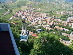 Aerial tramway to Monte Titano