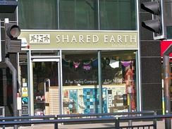 Shared Earth, a Fairtrade shop in Leeds, West Yorkshire