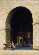 Entrance to the Souk at Constantinople, by Simon Agopian, 1905