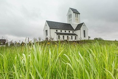 The Cathedral of Skálholt, the first church which converted to Lutheranism in Iceland.
