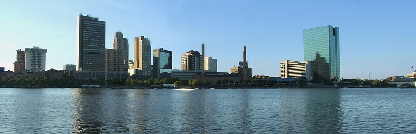 Downtown Toledo's skyline from across the Maumee River