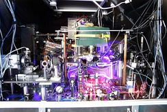 An experimental strontium based optical clock.