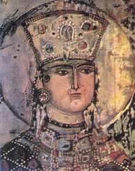 "Queen Tamar of Georgia presided over the ""Golden Age"" of the medieval Georgian monarchy. Her position as the first woman to rule Georgia in her own right was emphasized by the title ""Mepe mepeta"" (""King of Kings"").[30]"