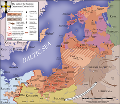Map of the Teutonic state in 1410
