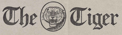Logo from The Tiger Vol. XII No. 25 on May 2, 1917