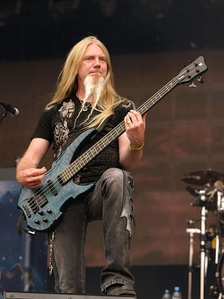 Nightwish's current bassist, Marco Hietala, who replaced Sami Vänskä in the fall of 2001.
