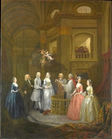 The Wedding of Stephen Beckingham and Mary Cox, 1729