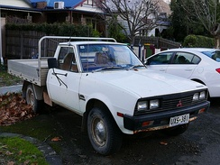 1984–1986 Mitsubishi L200 Express (MD) 4WD 2-door cab chassis (Australia)