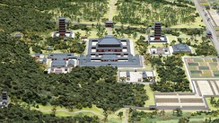 Model of the garan of Todaiji seen from the north side